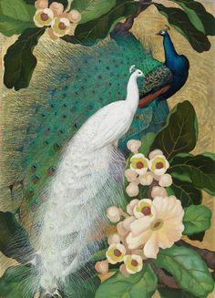 Peacocks | Jessie Arms Botke (1883-1971)