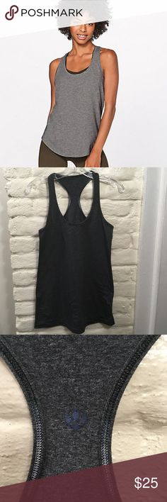 """Lululemon Love Tank II Heathered Medium Grey Throw on this racerback tank when you're craving breathable, four-way stretch softness next to your skin. It's perfect for layering underneath sweaters on cool days or on its own when the temperature rises. Very Gently Used, no tags Armpit to Armpit 16 ½"""" Shoulder to hem 27 ½"""" Size 6 (best guess) lululemon athletica Tops Tank Tops"""