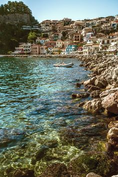 The harbour of Parga a town located in the northwestern part of the regional unit of Preveza, Epirus #kitsakis