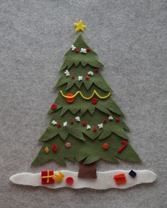 The Brooding Hen: Easy Felt Board & Felt Christmas Tree