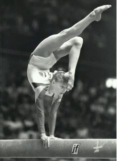 Daniela Silivaș (Romania) on beam at the 1987 World Championships