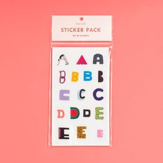 alphabet sticker pack from ban.do