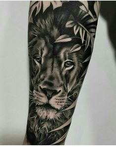 Leading Tattoo Magazine & Database, Featuring best tattoo Designs & Ideas from around the world. At TattooViral we connects the worlds best tattoo artists and fans to find the Best Tattoo Designs, Quotes, Inspirations and Ideas for women, men and couples. Lion Forearm Tattoos, Leo Tattoos, Badass Tattoos, Animal Tattoos, Future Tattoos, Body Art Tattoos, Tattoos For Guys, Tattoos Skull, Lion Tattoo Sleeves