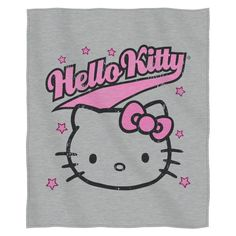 The Northwest Co ENT 099 Hello Kitty 'Varsity Kitty' color and Polyester Sweatshirt Throw