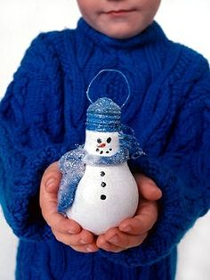Light Bulb Christmas Ornament Craft | Light Bulb Snowman christmas-ideas-crafts | Design