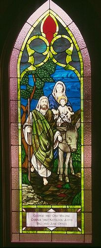 Stained glass in the sanctuary of Baileyton UMC, Greeneville, TN