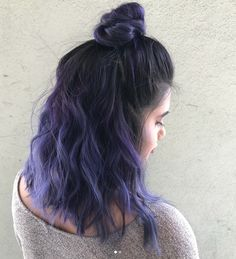Absolutely Cool Half Updo Purple Hair Color and Hairstyles for Girls That Will Amaze Everyone Hair inspiration – Hair Models-Hair Styles Brown Ombre Hair, Best Ombre Hair, Balayage Hair Purple, Purple Hair Streaks, Purple Hair Highlights, Long Gray Hair, Ombré Hair, Dye My Hair, Bad Hair