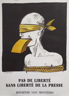 "Tomi Ungerer, ""No Freedom without freedom of the press"" #jesuischarlie #CharlieHebdo"
