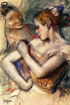 Dancer - Edgar Degas; looks like chalk pastel, love it so much. you can see his strokes and oh gosh!