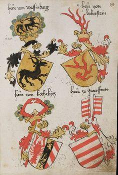 Wappenbuch des St. Galler Abtes Ulrich Rösch Heidelberg · 15. Jahrhundert Cod. Sang. 1084 Folio 190