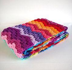 Bargello Scarf - Free Crochet Diagram - (jellina-creations)