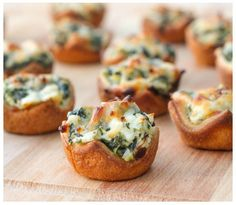 NEW BLOG: Spinach Dip Bites, cold or warm they're always a hit!  Use a simple cupcake pan and knock these out