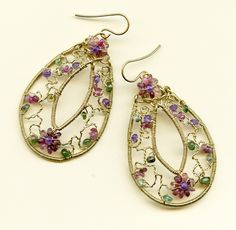 Twisted-Wire Floral Earrings