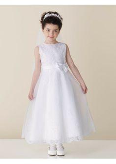 51700fbee A-line Skirt Sleeveless Tulle And Satin Tea-length Flower Girl Dress Fd181  Fall