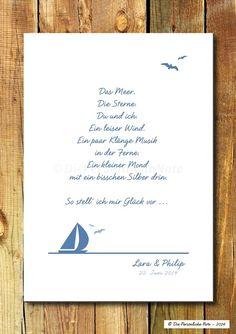 Wie stellst du dir eigentlich Glück vor? - Druck/Wandbild: Meeresglück (Geschenkidee für Hochzeit/Verlobung)