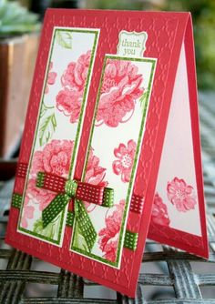 What's not to like about this card? Very unusual use of ribbons