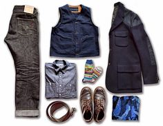 LIFE TIME GEAR: LTG OUTFIT TODAY   IRON HEART, WHITE'S BOOTS, ENGINEERED GARMENTS, JACK KNIFE, NIGEL CABOURN