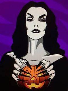 Vampira. Halloween.
