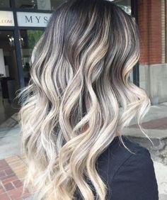 Black Hair With Ash Blonde Balayage