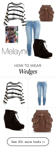 """""""College."""" by melaynebruce on Polyvore featuring Frame Denim and Rampage"""