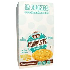 Lenny & Larry's, The Complete Cookie、ホワイト・チョコレート・マカダミア、クッキー12枚、各 4 oz (113 g)