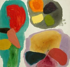 Artwork: Gillian Ayres inspired by  the Welsh countryside.