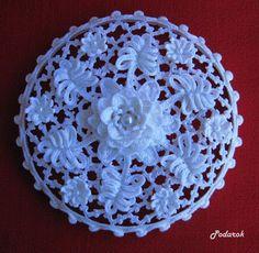 "Photo from album ""Шкатулки"" on Yandex. Crochet Gloves Pattern, Crochet Doily Patterns, Crochet Motif, Crochet Doilies, Knit Crochet, Crochet Home, Irish Crochet, Wedding Favors, Needlework"