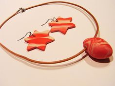Ohrringe und Anhänger aus Fimo Creative, Blog, Necklaces, Fimo, Diy Clay, Diy, Basteln, Cold Porcelain, Gifts