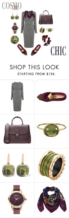 """Cosmopolitan"" by sandra-moreno-2 on Polyvore featuring Whistles, Ted Baker, Burberry, Solow, Pomellato, Bulgari, Barbour, Heron Design Studio, Bourjois and women's clothing"