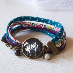 Bracelet cabochon black pissenlit bracelets à par Bouclelacreations, €12.50