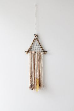 Natural Triangle Dreamcatcher // Etsy