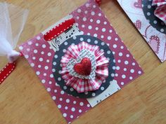 Paper layers, valentine bunting.