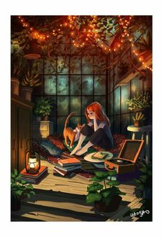 Illustrator Yaoyao Ma Van As. Yaoyao Ma Van As, or shortly YaoYao art director, painter, illustrator, and occasional animator. For more view website Art And Illustration, Website Illustration, Pretty Art, Cute Art, Bel Art, Fall Drawings, Secret Hideaway, Anime Kunst, Anime Scenery