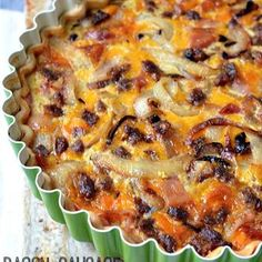Bacon, Sausage and Cheddar Quiche
