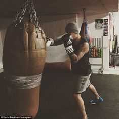 David Beckham, Lady Gaga & Hugh Jackman Inspire A Full-Body Workout. Three superstars, three inspirational Insta posts, and one full-body exercise program. There's really no good excuse to flake on working out today! Brooklyn Beckham, David Beckham, The Beckham Family, Victoria And David, Harper Beckham, Hunks Men, Body Picture, Early Morning Workouts, Hugh Jackman