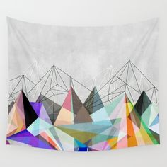 Colorflash 3 Wall Tapestry by Mareike Böhmer. Worldwide shipping available at Society6.com. Just one of millions of high quality products available.