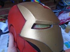 Build an Iron Man Helmet for Cheap!: 10 Steps (with Pictures) Iron Man Helmet, Lenses, Projects, Pictures, Helmets, Costumes, Top, Mascaras, Log Projects