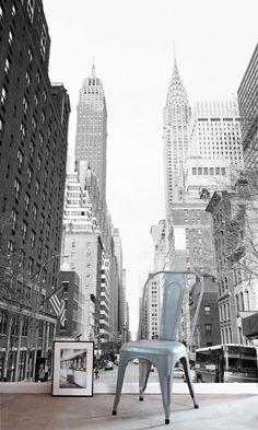 "Панно Esta Home Denim&Co 157706: цена, фото | Интернет-магазин обоев ""Интерьерус"" New York Skyline, Rues, Travel, Texture, Products, Ink, Water, Pattern, White People"