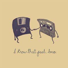 The sad life of retro technology. :P #technology