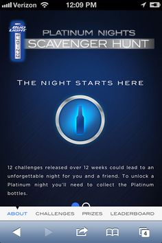 Bud Light Platinum launches mobile social scavenger hunt - Mobile Marketer - Gaming