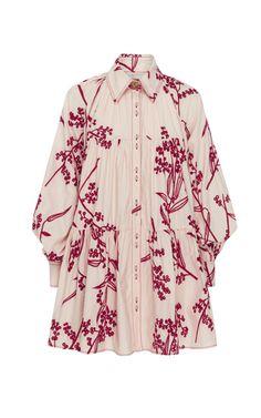 Banksia Printed Cotton Mini Dress by AJE for Preorder on Moda Operandi Stylish Dress Designs, Stylish Dresses, Casual Dresses, Short Dresses, Women's Casual, Women's Dresses, Dresses Online, Hijab Fashion, Fashion Dresses