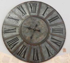 huge zinc wall clock