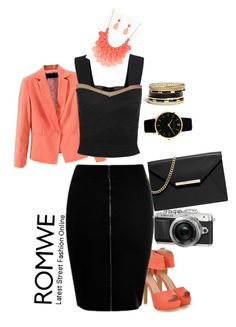 """ROMWE 9"" by mejra-s ❤ liked on Polyvore featuring moda, JY Shoes, MICHAEL Michael Kors, GUESS i Larsson & Jennings"