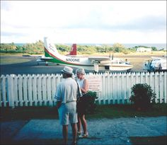 "As it is often said...""Getting to Nevis maybe hard, but leaving Nevis is even harder!"" Too True Dat! #Nevis Airport Circa 1996?"