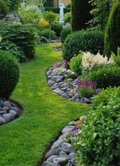 rock garden edging ideas #LandscapeEdging