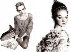 Myltan (Hannah Muller) fashion illustrations