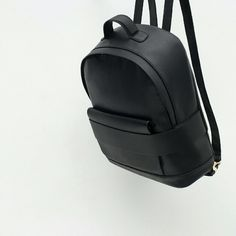 Zara wide strap backpack (8038) New with tags. Outer shell 100% polyurethane. Lining 100% Polyester  Color Black  black backpack, outer pocket, handle and adjustable shoulder straps lining with an inside pocket finished with golden details zip closure?  Measurement  height x Width x deep 39 x 31 x 11cm Zara Bags Backpacks