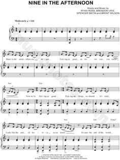"At The Disco ""Nine In the Afternoon"" Sheet Music Trumpet Sheet Music, Violin Sheet Music, Piano Music, Music Sheets, Learn Guitar Chords, Ukulele, Piano Songs, Panic! At The Disco, Music Download"