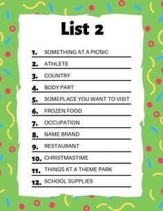 110 Scattergories Lists Ideas Scattergories Scattergories Lists Family Game Night