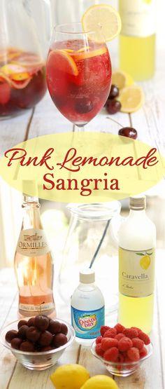 A refreshing grown up version of Pink Lemonade to enjoy this summer. #Sundaysupper